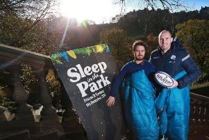 Scottish rugby are backing Sleep in the Park. Picture; contributed