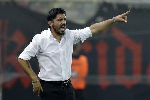 AC Milan fired Vincenzo Montella and named Gennaro Gattuso (pictured) as coach on Monday. Picture: AP