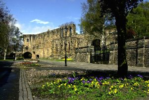 The remains of the refecory at Dunfermline Abbey. The Fife town was one of Scotland's first burghs, founded in the 12th century