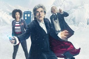 Capaldi, Bradley and Mackie had fantastic interactions. Picture: BBC