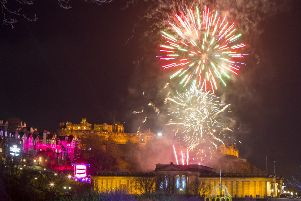 Fireworks were choreographed to music for the first time. Pic: Katielee Arrowsmith/SWNS