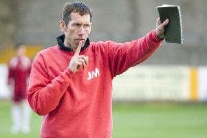 John McGlashan during his time as manager of Arbroath. Picture: SNS
