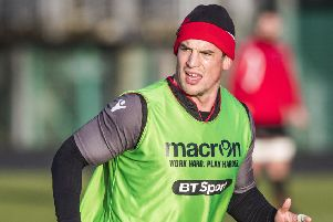 John Hardie during a training session. Picture: Gary Hutchison/SNS/SRU