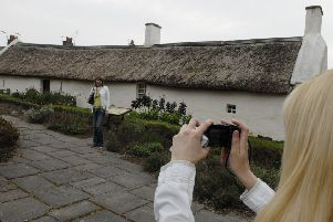 Tourists at Burns Cottage in Alloway. Picture: Rob McDougall