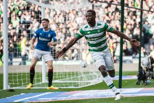 Moussa Dembele has been linked with a move away from Celtic this January. Picture: John Devlin