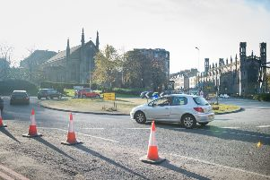Picardy Place roundabout at the top of Leith Walk. Picture: Ian Georgeson