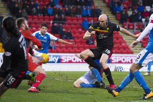 Partick Thistle's Connor Sammon scores to make it 2-0. Picture: SNS/Bill Murray