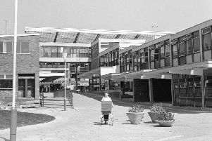 The shopping centre in Glenrothes, pictured in 1964. The Fife new town marks its 70th anniversary in 2018. Picture: TSPL