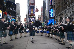 Tartan Day in New York. Picture: TSPL