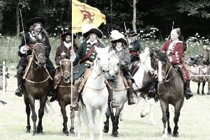 A Battle of Killiecrankie re-enactment group at the Highland site which is due to be further developed by an expansion of the  A9 trunk road. PIC: Flickr/Creative Commons/Iain Cameron.