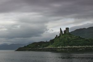 Castle Moil on Skye was hit by lightning. PIC: Creative Commons.