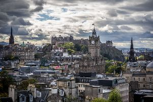 Edinburgh was ranked first in the report, while Glasgow was placed eighth. Picture: Steven Scott Taylor