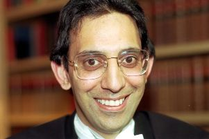Dr Raj Jandoo was the first Asian member of the Faculty of Advocates. Picture taken in July 1991.