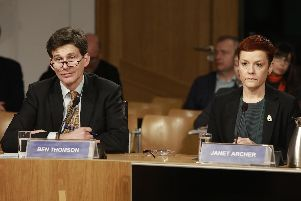 Ben Thomson and Janet Archer were called to Holyrood to explain Creative Scotland's recent controversial funding cuts to MSPs.