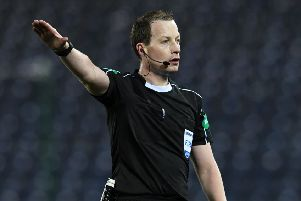 Referee Willie Collum took charge of the game at Rugby Park. Picture: SNS