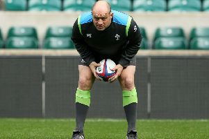 Ireland skipper Rory Best during the captain's run at Twickenham. Picture: PA