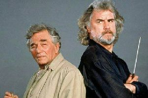Peter Falk and Billy Connolly starred alongside each other in an hour-long episode of Columbo in 2000. Picture: NBCUniversal Television Group