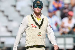 Australia captain Steve Smith during the third Test at Newlands. Picture: EJ Langer/Gallo Images/Getty Images