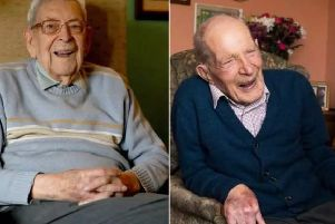 Robert Weighton, left, and Alf Smith are both celebrating their 110th birthdays today. (Photo: Steve Parsons/PA and Andrew O'Brien/Church of Scotland/PA)
