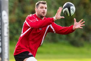 Edinburgh Rugby captain Fraser McKenzie trains ahead of his 100th appearance for the club. Picture: Ross Parker/SNS/SRU