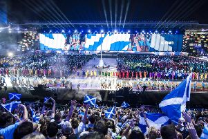 The opening ceremony of the Glasgow 2014 Commonwealth Games at Celtic Park. Picture: Jane Barlow