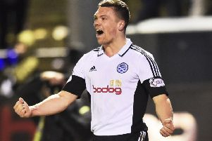 Craig Moore hit a late winner for Ayr. Picture: SNS/Rob Casey
