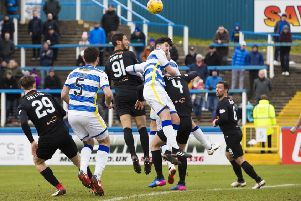 Dundee United's Bilel Mohsni scores to put his team into the lead. Picture: SNS/Bruce White