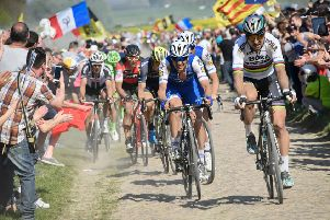 Slovakia's Peter Sagan will take to the cobblestones for the Paris-Roubaix one-day classic. Picture: Bernard Papon/AFP/Getty Images)