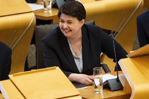 Ruth Davidson has betrayed no pang of conscience at her allegiance to Theresa May's zombie government. Picture: SWNS