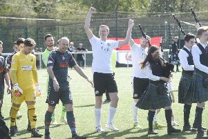 Stag weekend prank sees man lead out Edinburgh City as mascot
