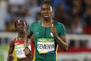 South Africa's Caster Semenya in action at the 2016 Olympic Games in Rio de Janeiro. Picture: Adrian DennisS/AFP/Getty Images