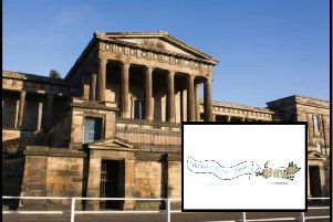 A Fair Isle wearing cartoon dog has been enlisted to help support the campaign to transform the Old Royal High building into a national music school.
