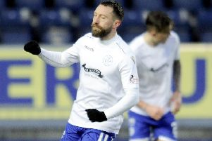 Queen of the South's Stephen Dobbie. Picture: Michael Gillen