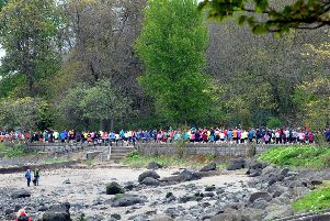 The parkrun at Cramond, which is staged every Saturday. Picture: Lisa Ferguson