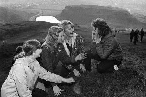 The gathering of the May dew - pictured on Arthur's Seat in the 1950s and '60s. Picture: TSPL