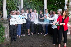 The Winning Nurses syndicate at Cleland Hospital, who won a �1 million lottery prize
