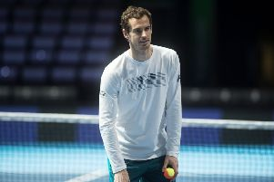 Andy Murray is working towards a comeback at Wimbledon. Picture: John Devlin
