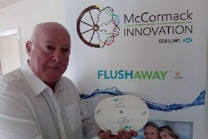 Brian McCormack has developed a device which has the potential to raise dwindling bowel cancer screening test returns. Picture: JP