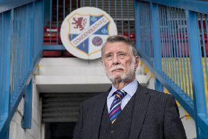 Cowdenbeath chairman Donald Findlay QC at Central Park. Picture: John Devlin