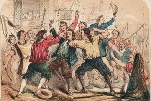 Mobs are nothing new - the infamous Lord Chief Justice of England was beaten by a London mob during the Glorious Revolution in 1688. He was then taken to the Tower of London, where he died a few months later.