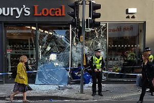 The scene at Shandwick Place this morning. Picture: William Sneddon