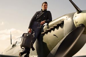 The high-flying supermodel launches his sAspinal of London, The Aerodrome Collection by David Gandy, Aerodrome Backpack, GBP795