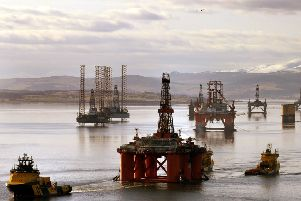 The Cromarty Firth has long been used as an anchorage point for oil rigs. Picture: PA