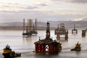 The sheltered waters of Cromarty Firth have long been used for refits or as an anchorage when oil prices fall and the need for rigs is diminished. Picture: Andrew Milligan/PA Wire