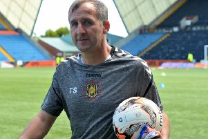 Tucker Sloan is aiming to win his 25th trophy as manager of Auchinleck Talbot. Picture: SNS.