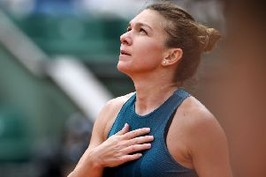 Romania's Simona Halep celebrates victory over Alison Riske of the US. Picture: Eric Feferberg/AFP/Getty Images
