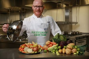 Scotland's national chef, Gary Maclean, serves up  top tips to help Scotland fight climate change. Picture: Stewart Attwood.