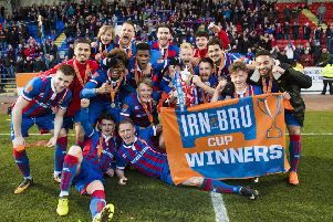 Inverness Caley Thistle are the current holders of the IRN-BRU Cup after defeating Dumbarton in the final in March. Picture: SNS.