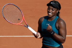 Sloane Stephens celebrates her semi-final victory over Madison Keys. Picture: AFP/Getty