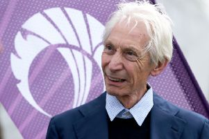 Charlie Watts of The Rolling Stones watched on as his team were humilated by Scotland at the cricket.  Picture: Jane Barlow/PA Wire.